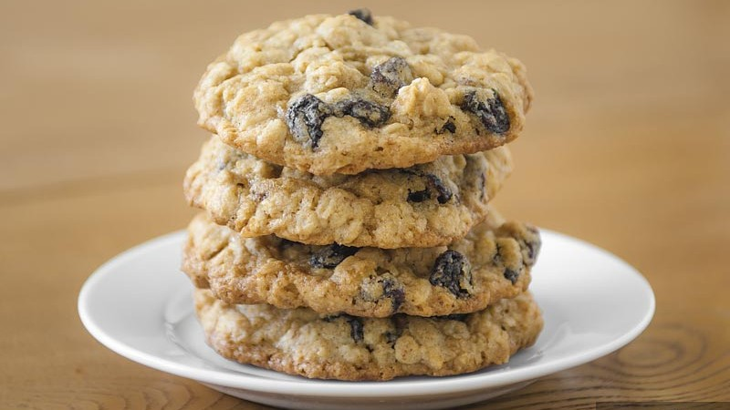 Oatmeal Raisin Cookies. Soft cookie with plenty of plump raisins