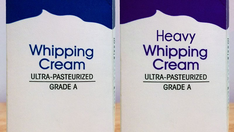 Heavy Whipping Cream vs Whipping Cream