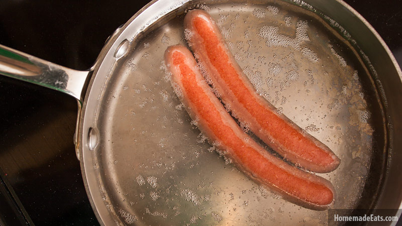 How long does it take to boil a hot dog?